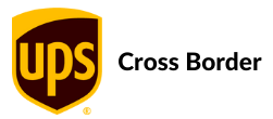 UPS logo with the words Cross Border