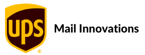 UPS logo with the words Mail Innovations